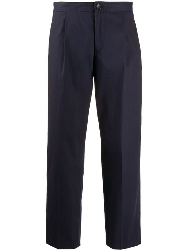 A.P.C. Amalfi straight-leg cotton trousers in blue