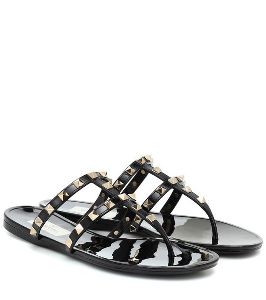 Valentino Garavani Rockstud PVC sandals in black