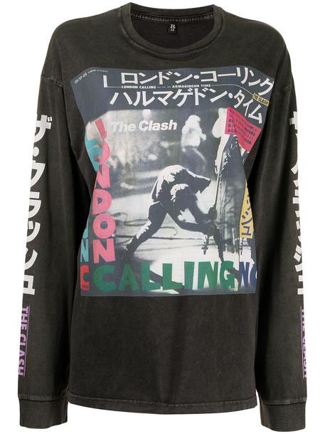 R13 Clash Armagideon Time print T-shirt - Black