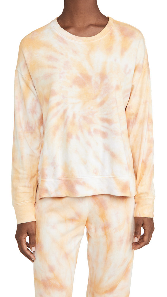 SUNDRY Tie Dye Sweatshirt in sand