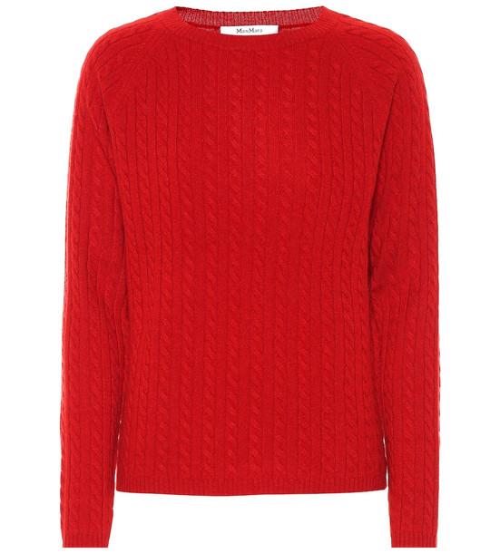 Max Mara Fleur cashmere sweater in red
