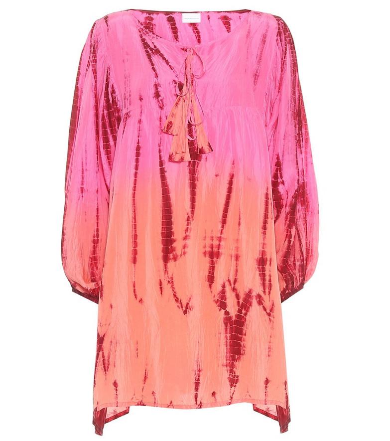 Anna Kosturova Exclusive to Mytheresa – tie-dye silk-satin minidress in pink
