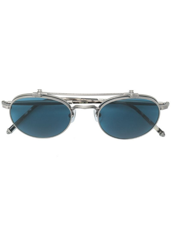 Matsuda engraved round sunglasses in metallic
