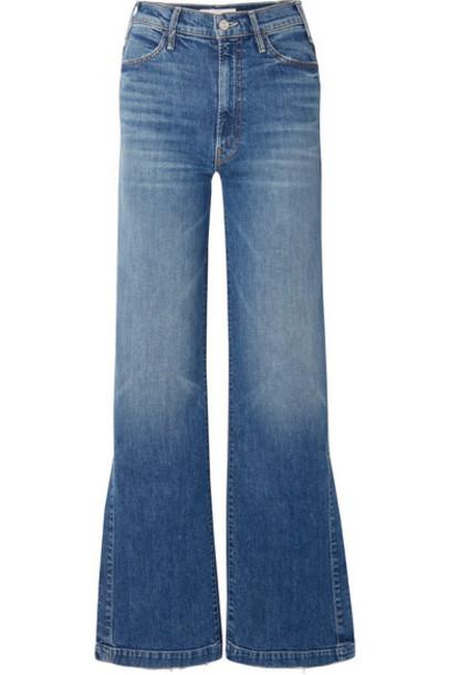 Mother - The Hustler Sidewinder High-rise Wide-leg Jeans - Mid denim