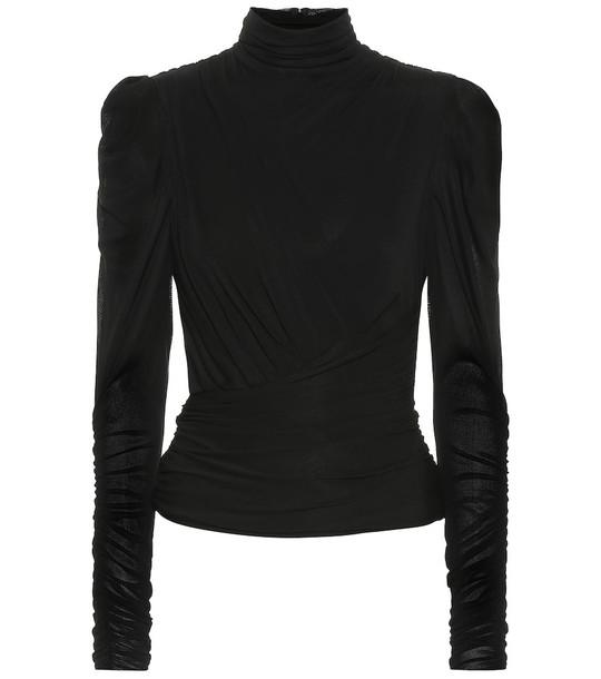 Isabel Marant Jalford turtleneck jersey top in black