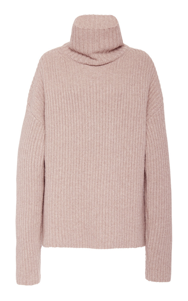 Joseph Ribbed Cashmere Turtleneck Sweater in neutral