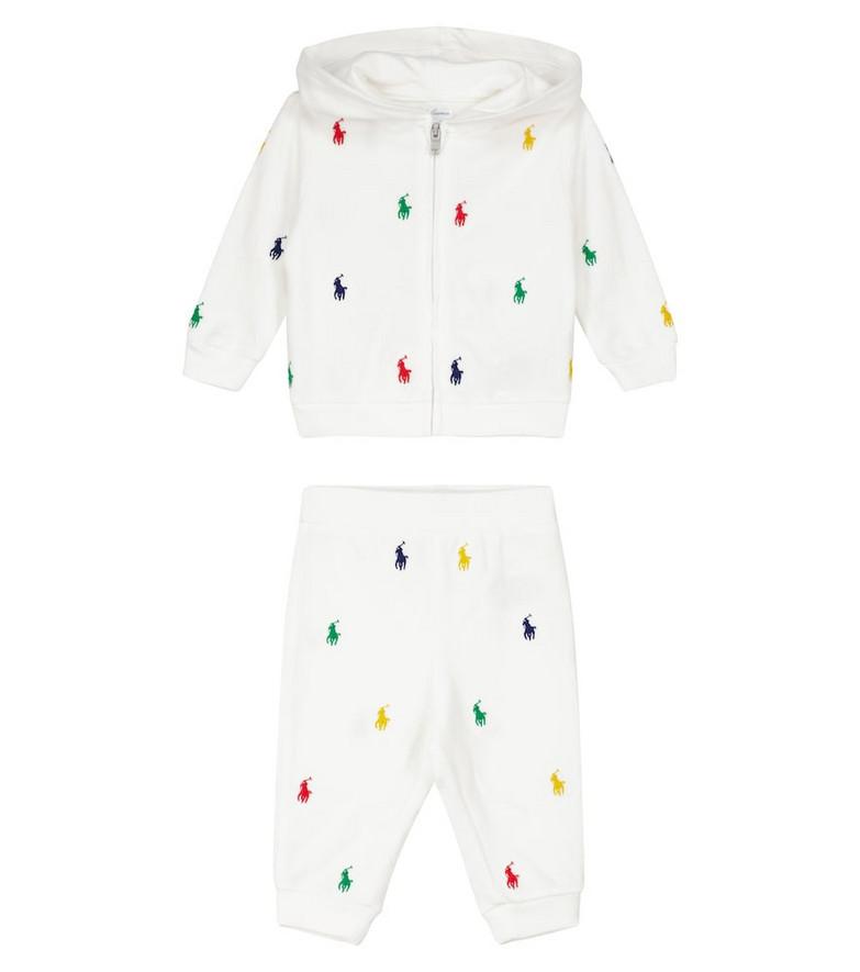 Polo Ralph Lauren Kids Cotton sweatshirt and pants in white