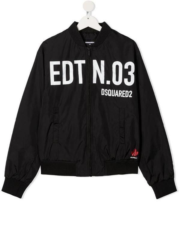 Dsquared2 Kids TEEN slogan-print hoodie