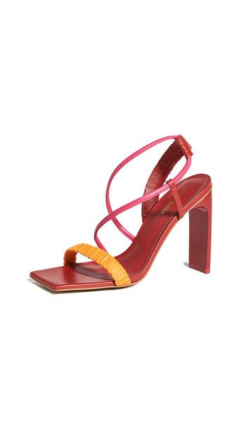 Cult Gaia Abella Sandals in merlot / multi