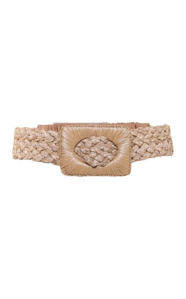 Johanna Ortiz La Promesa Raffia Waist Belt in brown