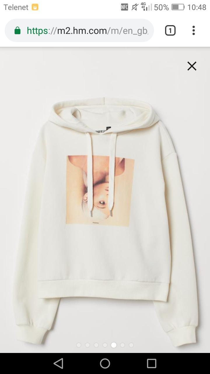 sweater h&m ariana grande beige beige sweater