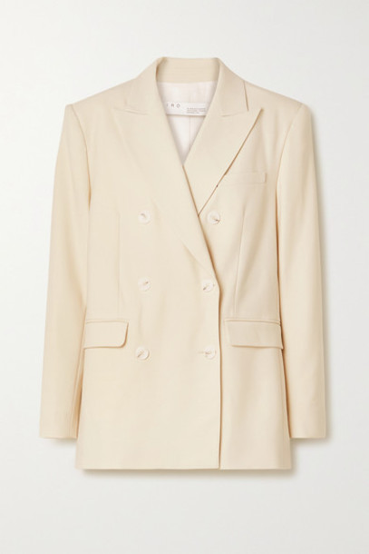 IRO - Rachian Double-breasted Twill Blazer - Ecru