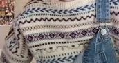 sweater,white,pattern,vintage