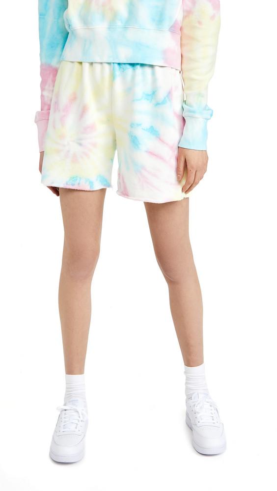 DANNIJO Tie Dye Sweat Shorts in multi
