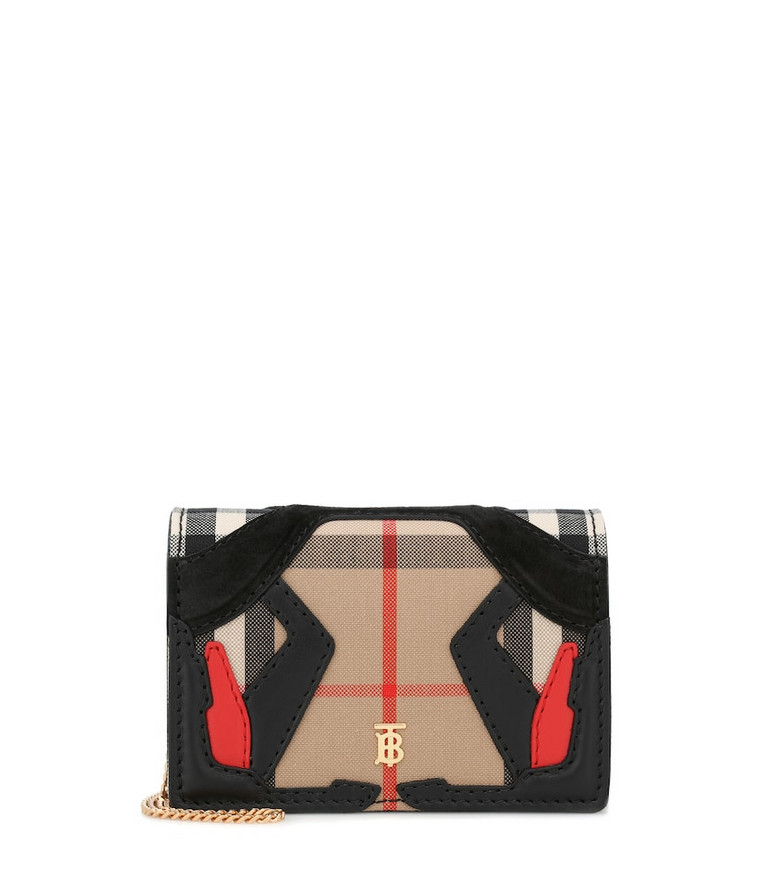 Burberry Vintage Check canvas clutch in beige