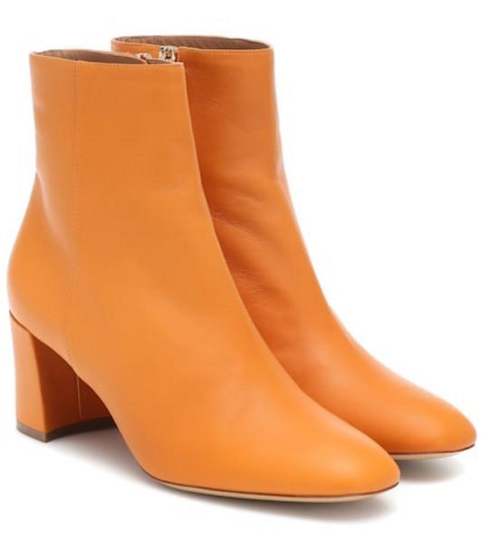 Mansur Gavriel Leather ankle boots in orange