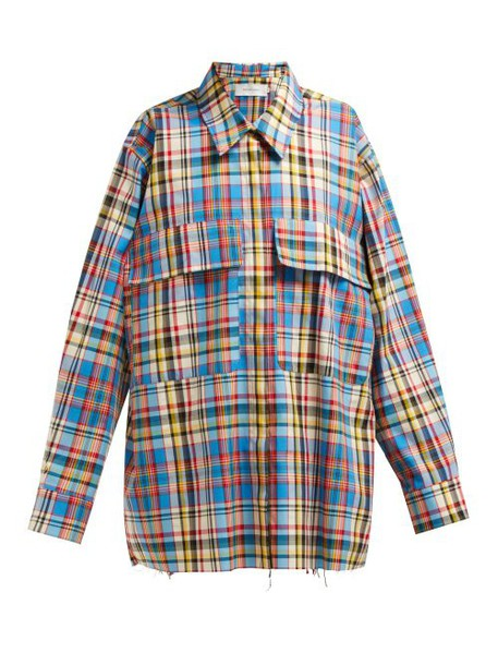 Marques'almeida - Oversized Checked Poplin Shirt - Womens - Multi