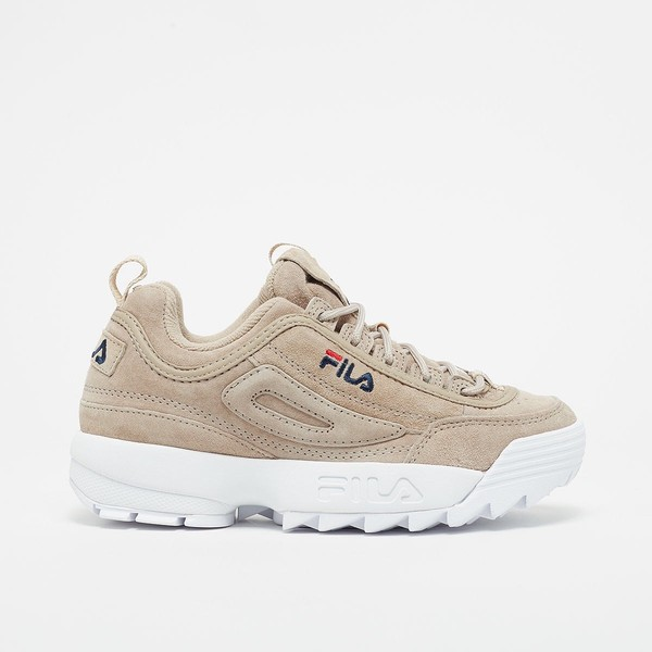 shoes beige suede fila sneakers