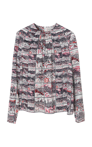 By Malene Birger Fedia Printed Top in print