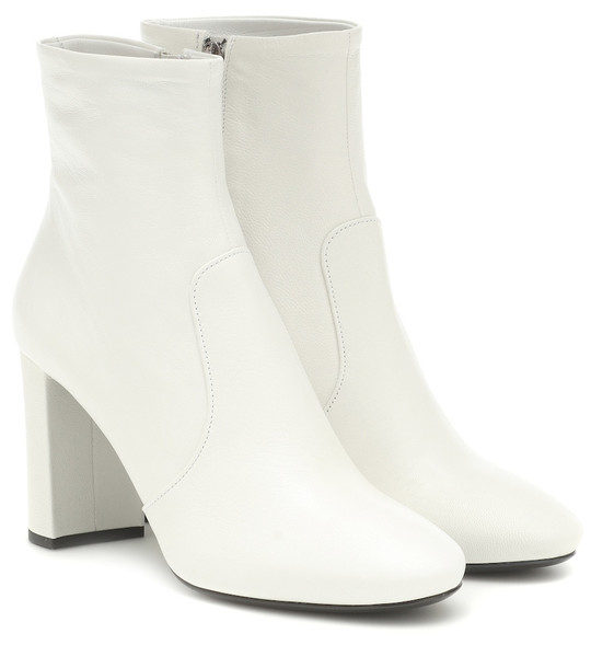 Prada Leather ankle boots in white
