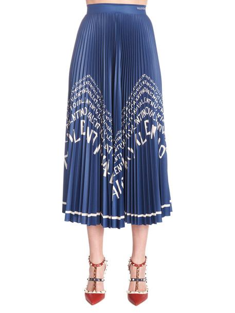 Valentino 'valentino Chevron' Skirt in blue