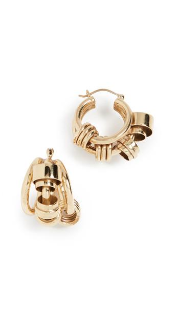 Ellery Bolvar Coiled Collage Earrings in gold