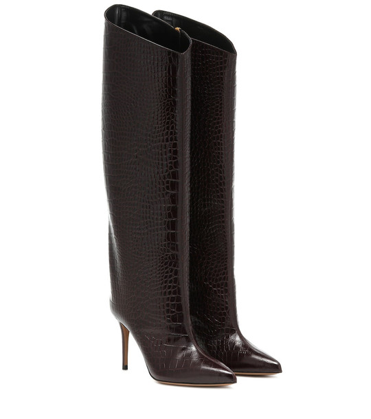 Alexandre Vauthier Alex 90 over-the-knee boots in brown