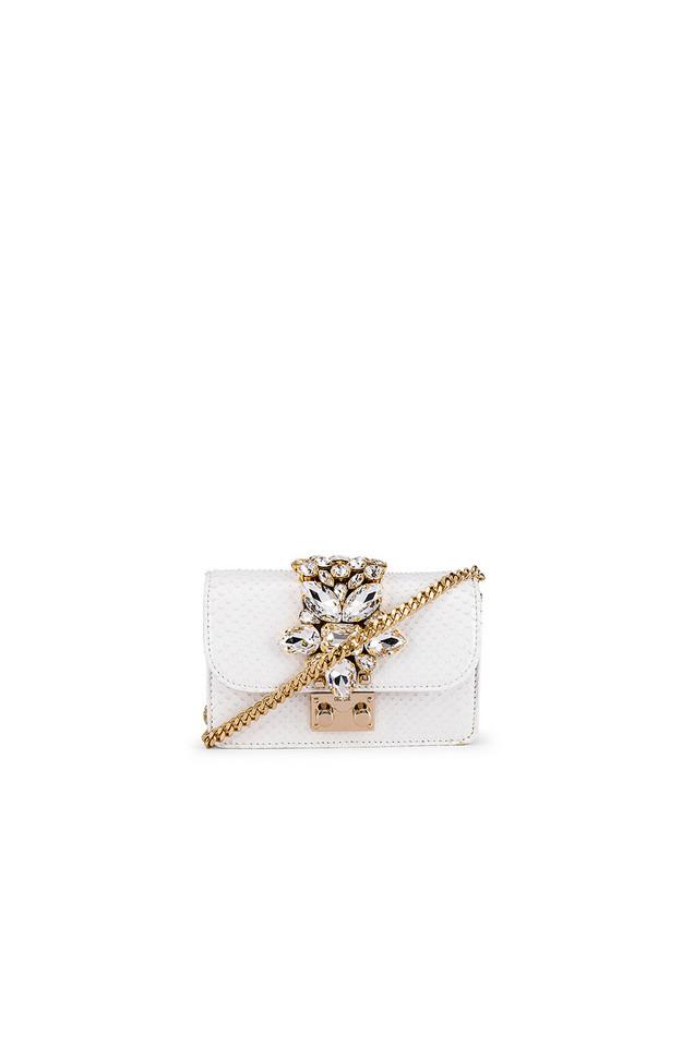 GEDEBE Mini Cliky Clutch in white