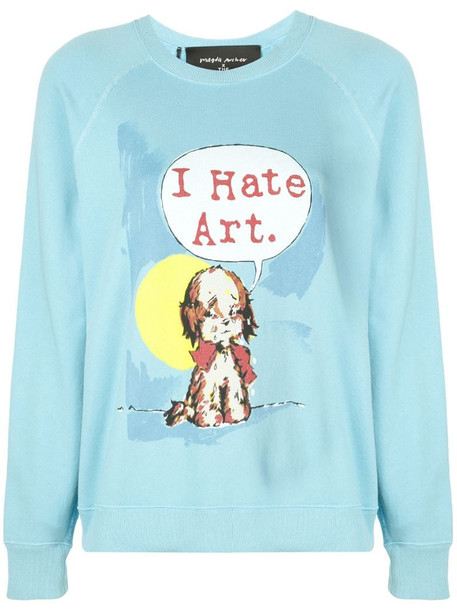 Marc Jacobs x Magda Archer The Collaboration sweatshirt in blue