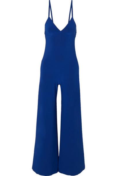 Norma Kamali - Stretch-jersey Jumpsuit - Royal blue
