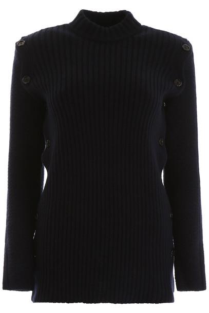 Marni Buttoned Pullover in blue