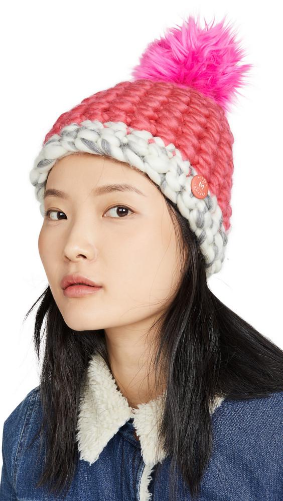 Mischa Lampert Deep Dot Hat in magenta