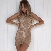 dress,lace,mini,bodycon,mocha