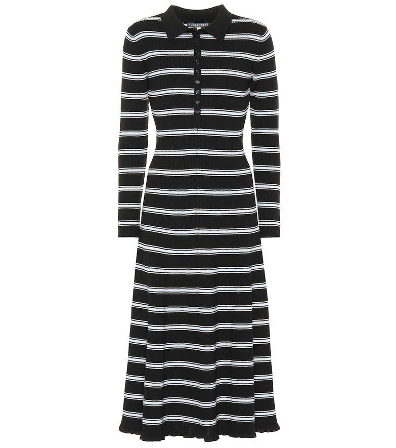 AlexaChung Grace wool midi dress in black