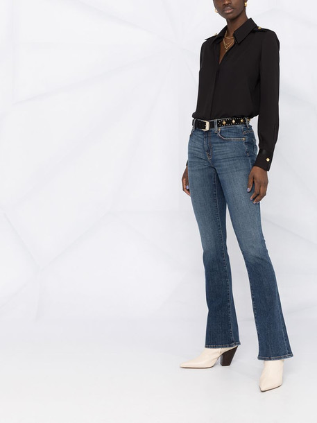 7 For All Mankind high-rise straight-leg jeans in blue