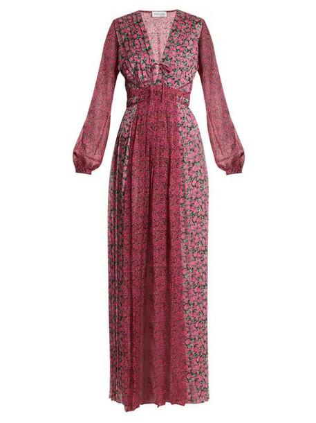 Raquel Diniz - Lily Floral Print Gown - Womens - Purple Print