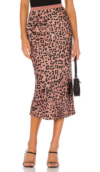 CAMI NYC The Jessica Skirt in Mauve in leopard