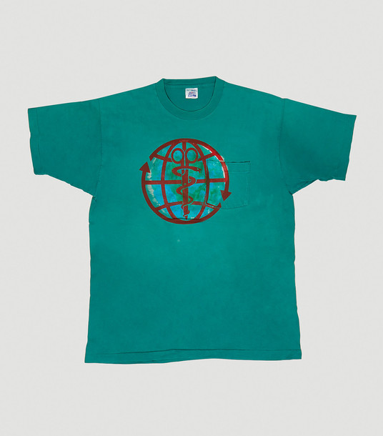 DRx Romanelli T-Shirts Women - RxCYCLE Earth Day Upcycled T-Shirt Green 100% Cotton. Dry clean. XL
