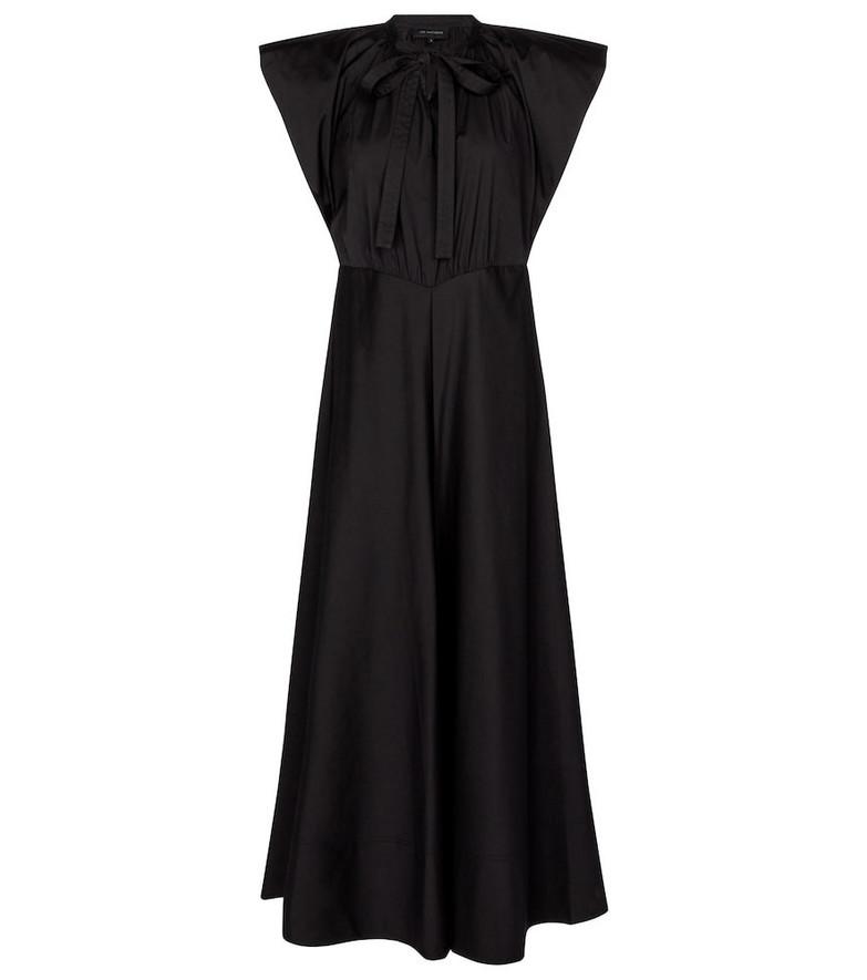 Lee Mathews Maleo cotton-blend maxi dress in black
