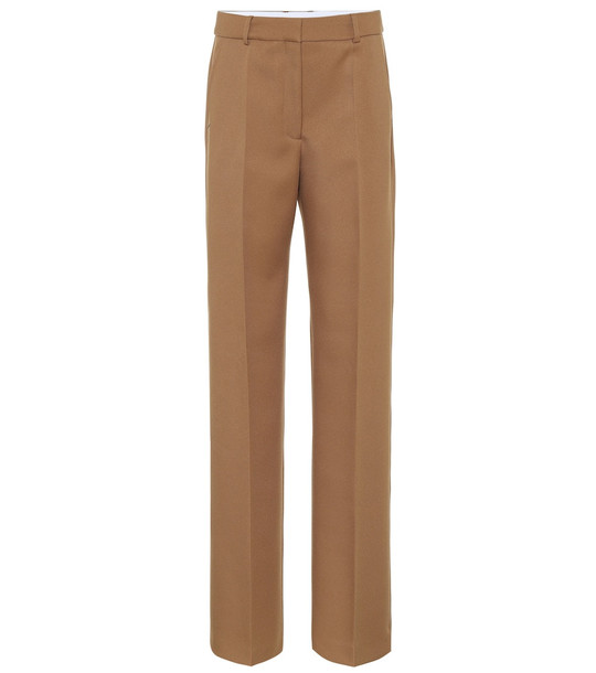 Stella McCartney High-rise straight pants in brown