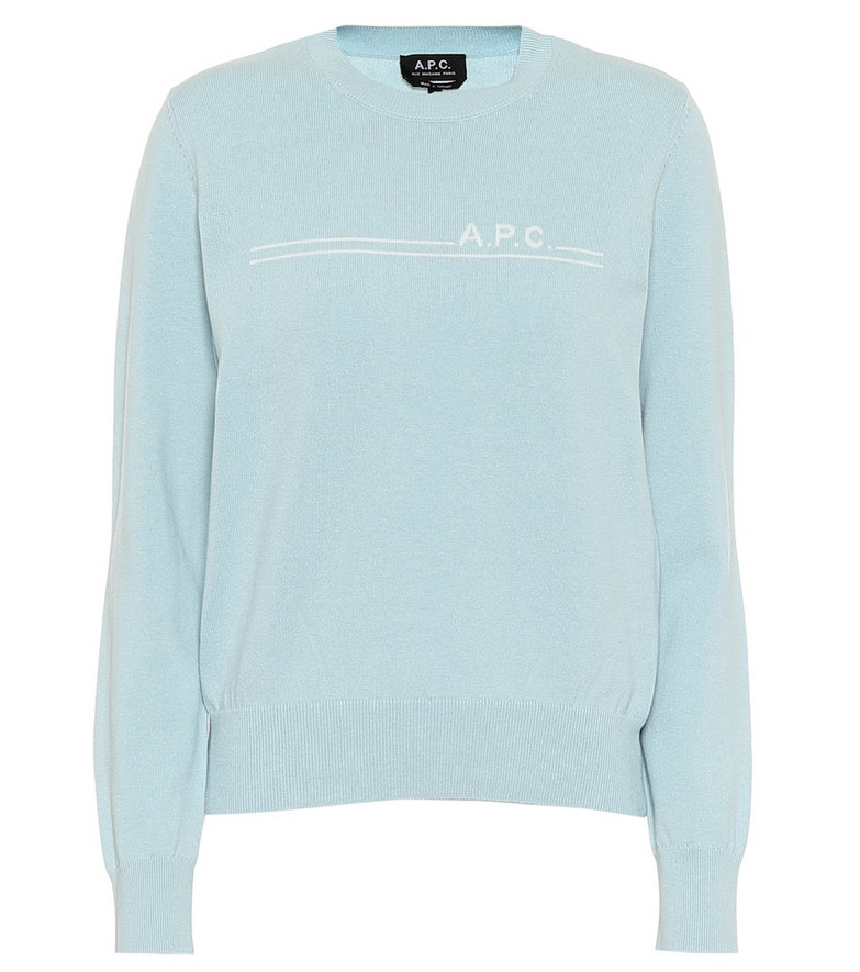 A.P.C. Cotton and cashmere sweater in blue