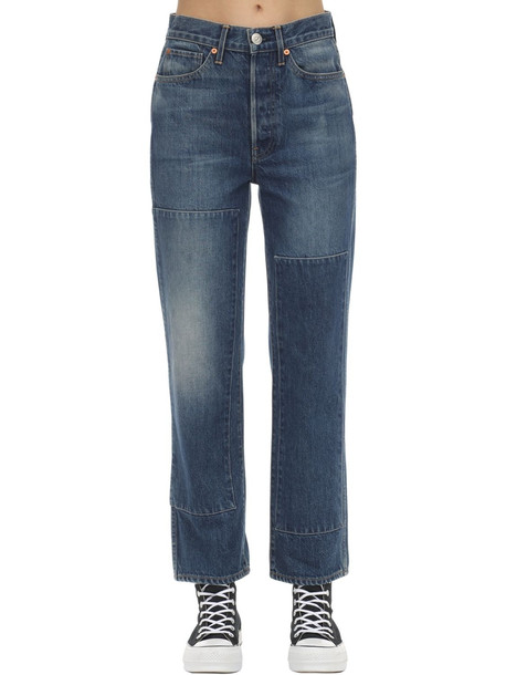 3X1 Claudia Denim Straight Jeans in blue