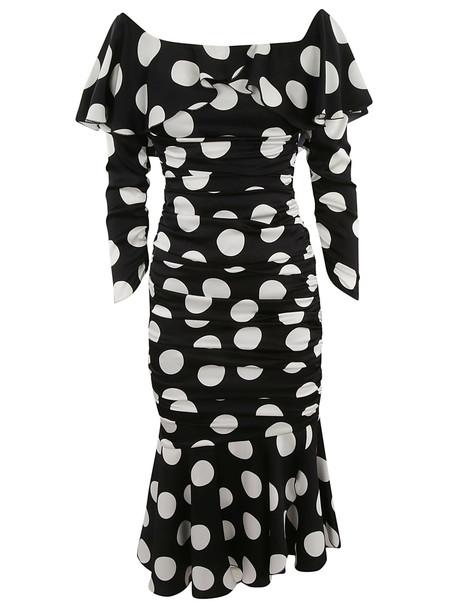 Dolce & Gabbana Off Shoulder Polka Dot Dress
