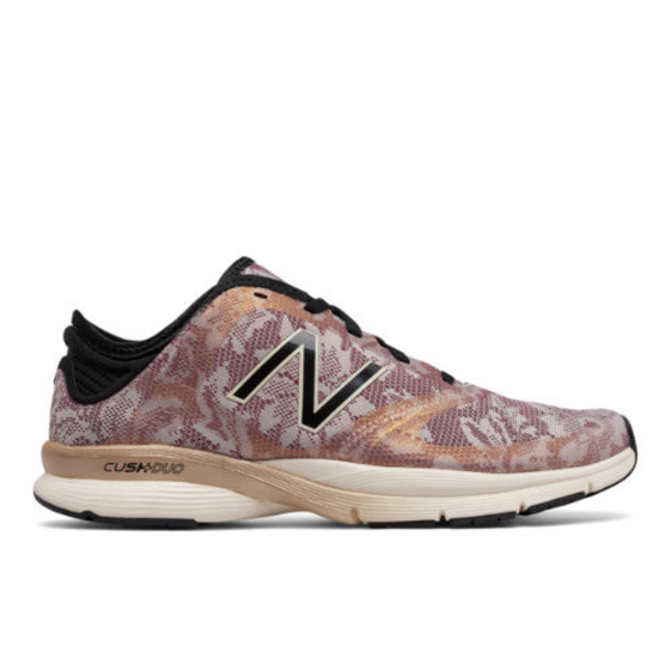 New Balance Lace 88v2 Trainer Women's Cross-Training Shoes - Off White/Black/Pink (WX88MF2)