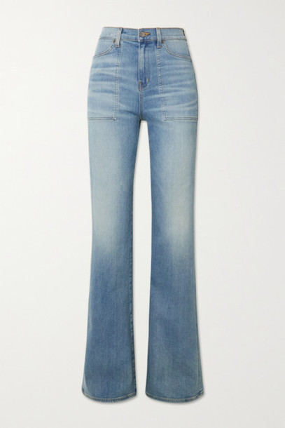 Veronica Beard - Crosbie High-rise Flared Jeans - Mid denim