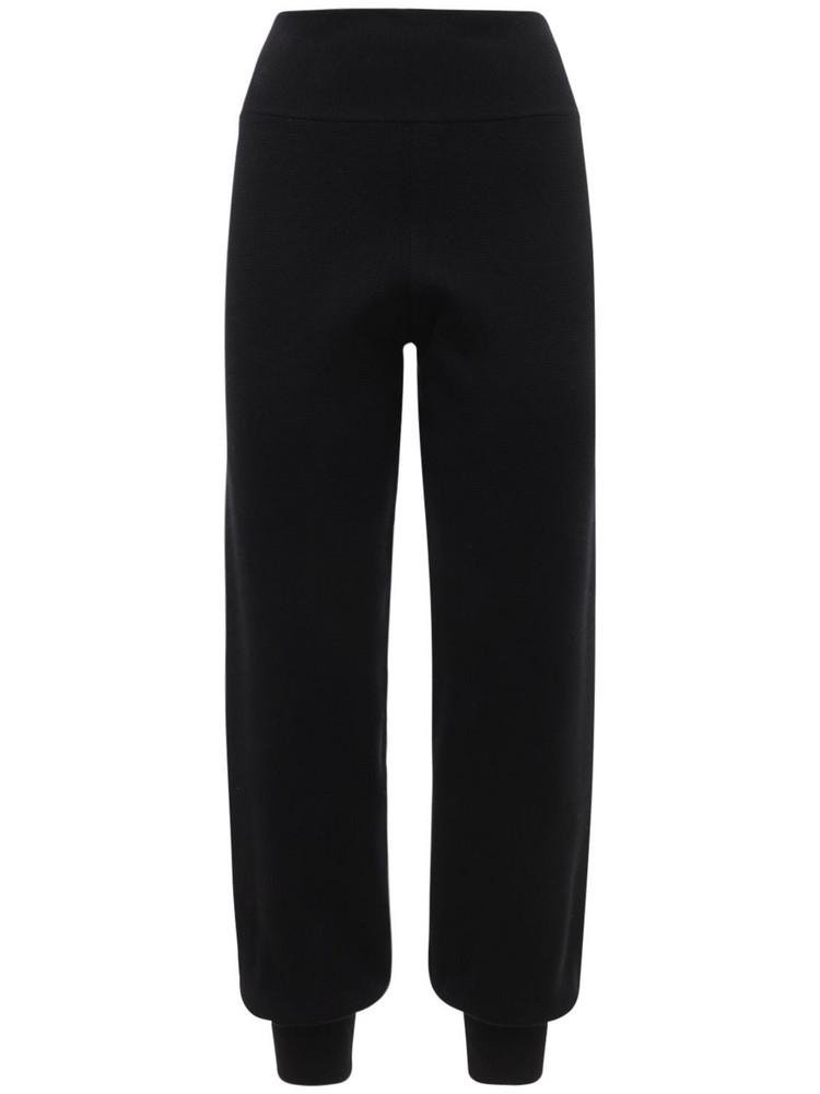 CASASOLA Lucas Silk Knit Pants in black