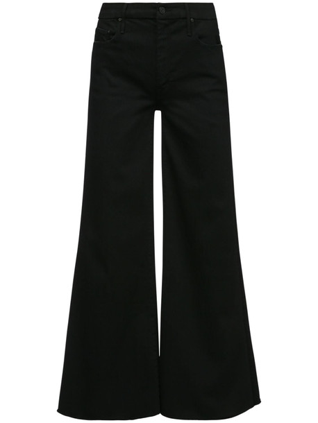 MOTHER The Roller Flared Jeans in black