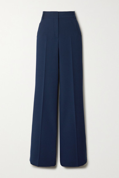 Akris - Floyd Wool-twill Wide-leg Pants - Blue