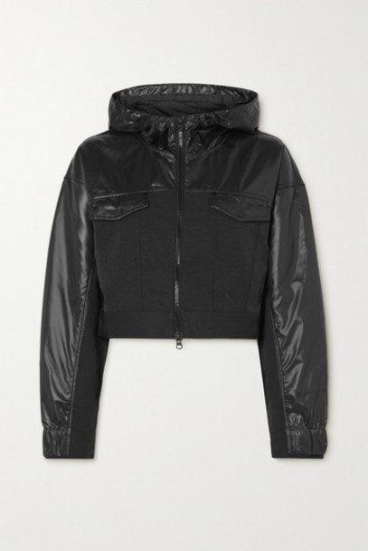 Nike - City Ready Cropped Mesh-trimmed Coated-shell And Twill Jacket - Black