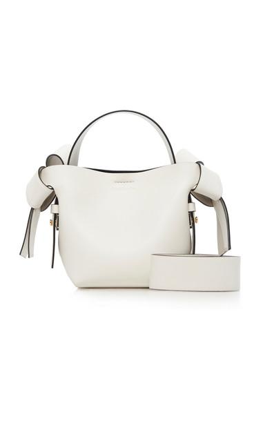 Acne Studios Musubi Mini Leather Shoulder Bag in white